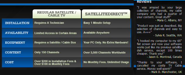 affiliate marketing product SatelliteDirect